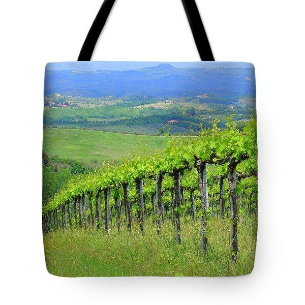 Italian Vineyard Tote Bag by Ramona Johnston