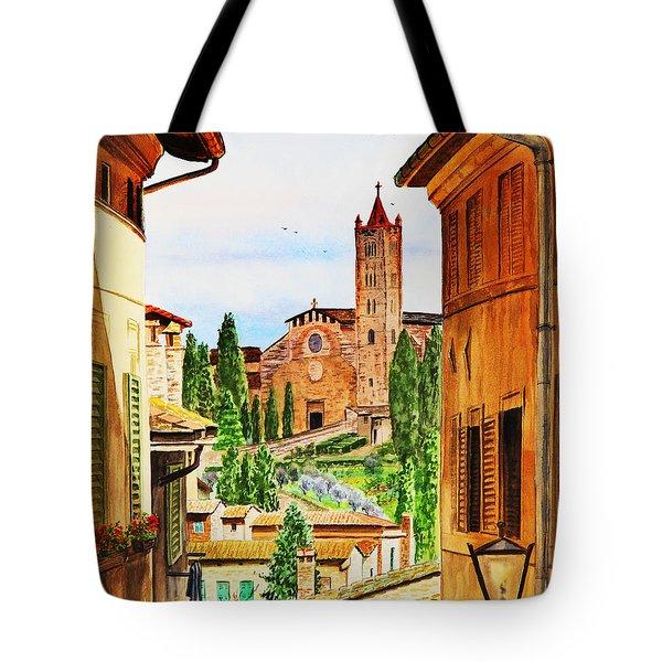 Italy Siena Tote Bag by Irina Sztukowski