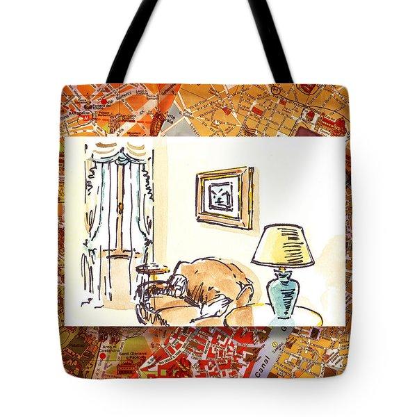 Italy Sketches Venice Hotel Tote Bag by Irina Sztukowski