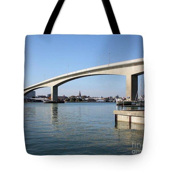 Itchen Bridge Southampton Tote Bag by Terri  Waters