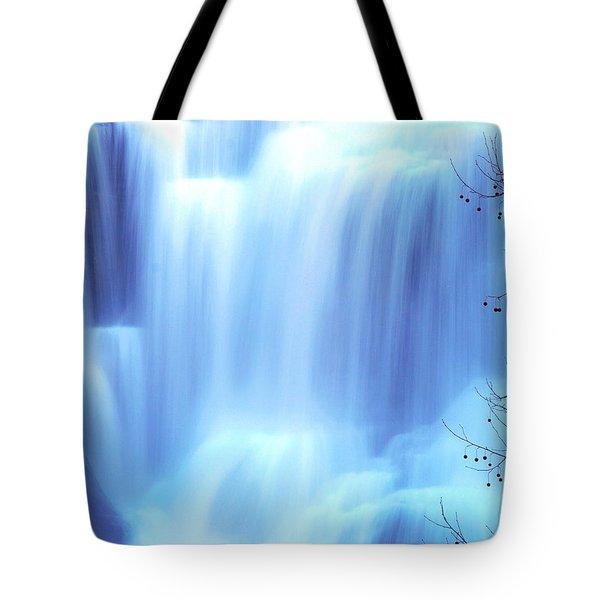 Ithaca Water Falls New York  Tote Bag by Paul Ge