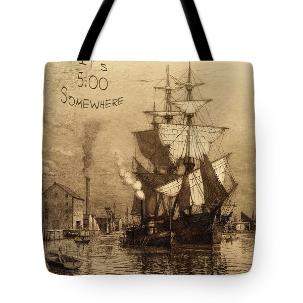 It's 5 O'clock Somewhere Tote Bag by John Stephens