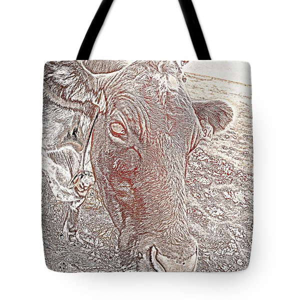 Its a cows life  Tote Bag by Hilde Widerberg