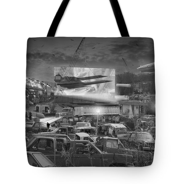 It's A Disposable World  Tote Bag by Mike McGlothlen