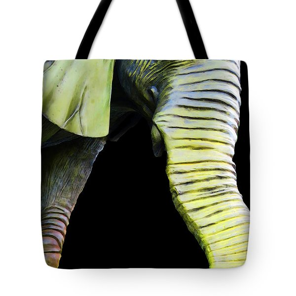 It's A Long Story - Unique Elephant Art Tote Bag by Sharon Cummings
