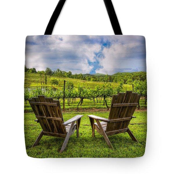 It's Happy Hour Tote Bag by Debra and Dave Vanderlaan