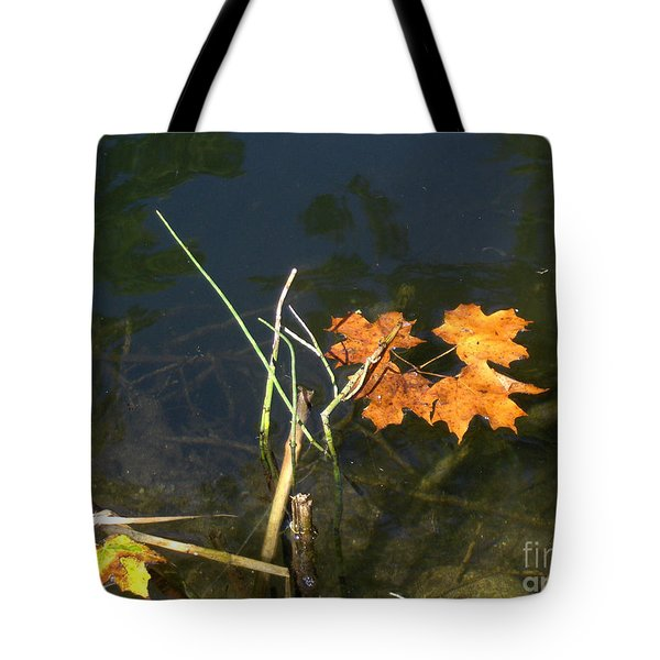 It's Over - Leafs On Pond Tote Bag by Brenda Brown