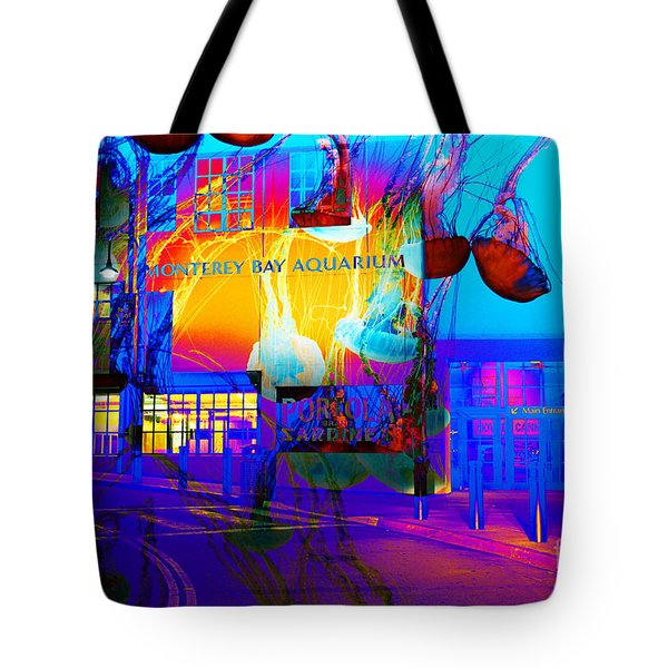Its Raining Jelly Fish At The Monterey Bay Aquarium 5d25177 Tote Bag by Wingsdomain Art and Photography