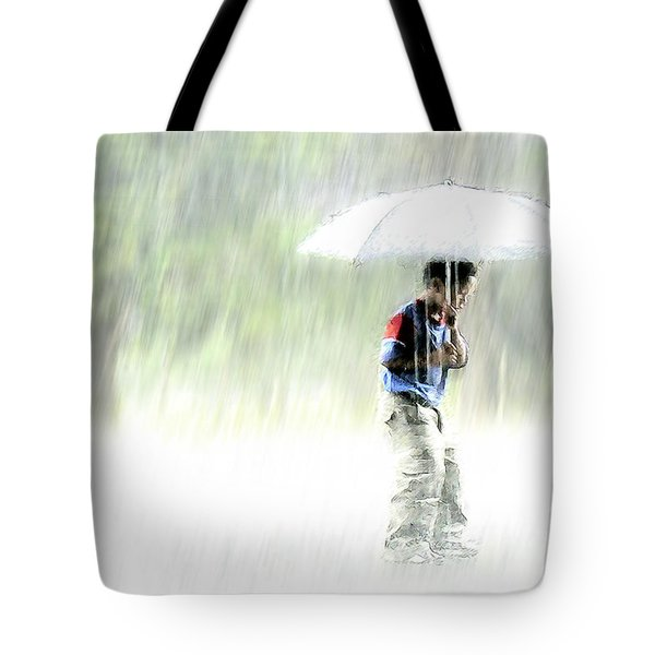 It's Raining Outside Tote Bag by Heiko Koehrer-Wagner