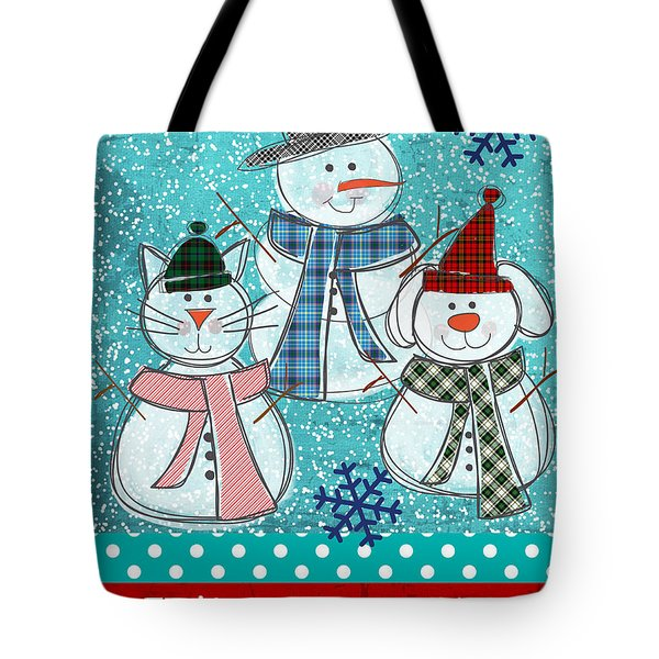 It's Snowtime Tote Bag by Linda Woods