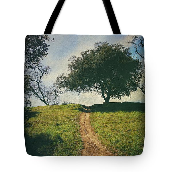 It's Time to Get Up That Hill Tote Bag by Laurie Search
