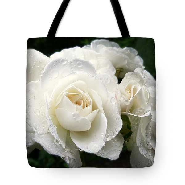 Ivory Rose Bouquet Tote Bag by Jennie Marie Schell