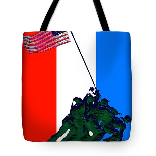 Iwo Jima 20130210 Red White Blue Tote Bag by Wingsdomain Art and Photography