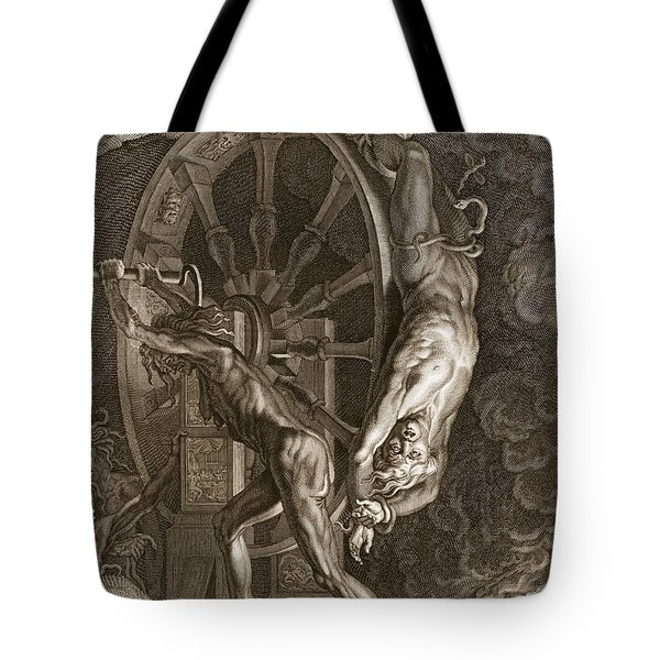 Ixion In Tartarus On The Wheel, 1731 Tote Bag by Bernard Picart