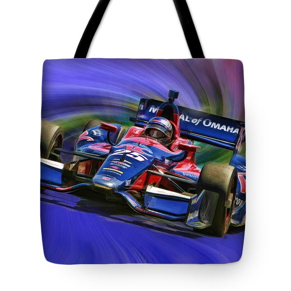 Izod Indycar Series Marco Andretti  Tote Bag by Blake Richards