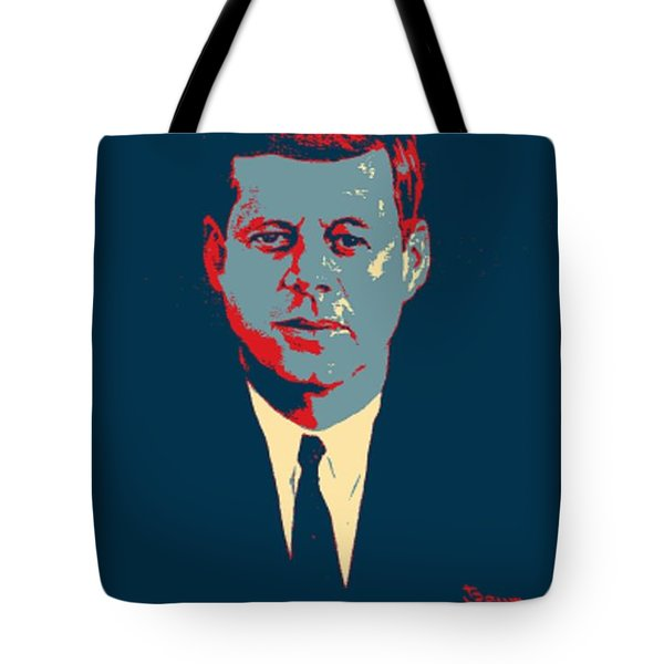 J F K In Hope Tote Bag by Rob Hans