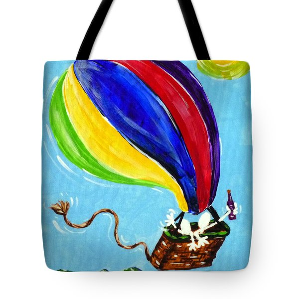 Jack And Charlie Fly Away Tote Bag by Jackie Carpenter
