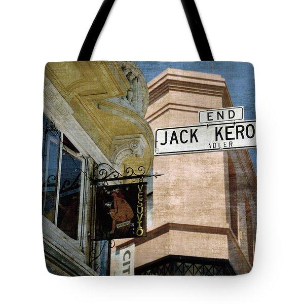 Jack Kerouac Alley And Vesuvio Pub Tote Bag by RicardMN Photography