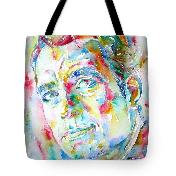 Jack Kerouac Portrait.1 Tote Bag by Fabrizio Cassetta