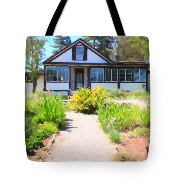 Jack London Countryside Cottage And Garden 5D24565 long Tote Bag by Wingsdomain Art and Photography
