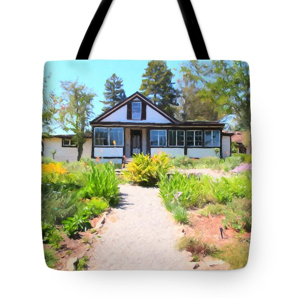 Jack London Countryside Cottage And Garden 5d24565 Tote Bag by Wingsdomain Art and Photography
