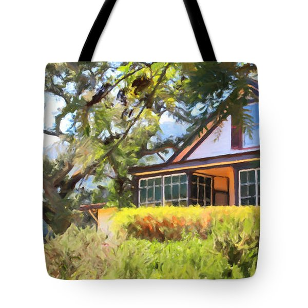Jack London Countryside Cottage And Garden 5d24570 Long Tote Bag by Wingsdomain Art and Photography