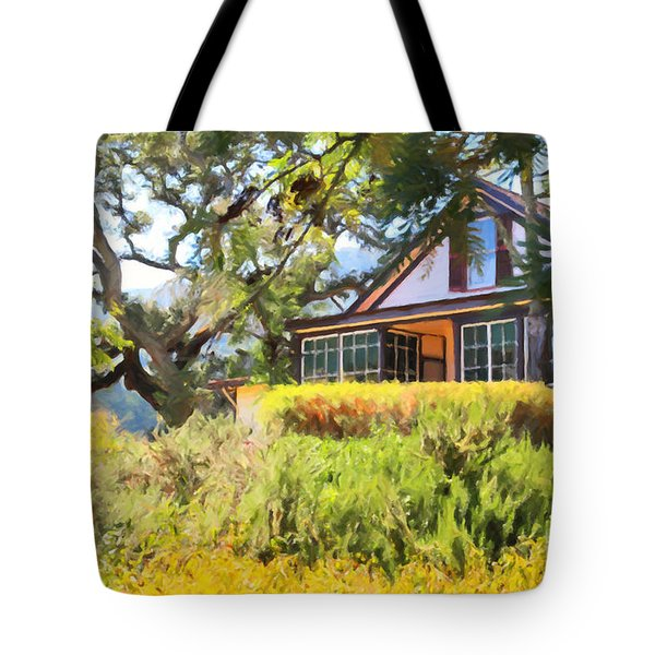 Jack London Countryside Cottage And Garden 5D24570 Tote Bag by Wingsdomain Art and Photography