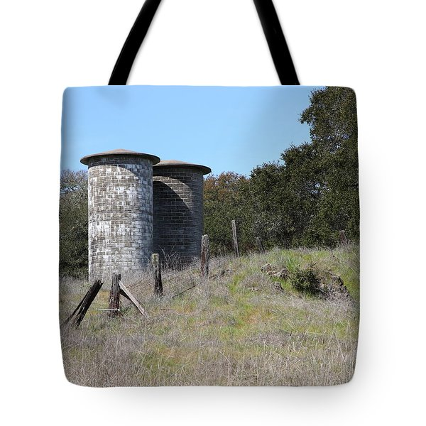 Jack London Ranch Silos 5D22146 Tote Bag by Wingsdomain Art and Photography