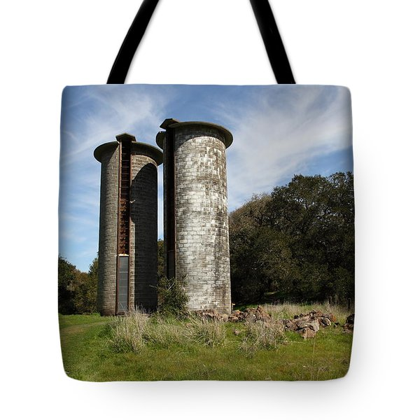 Jack London Ranch Silos 5D22161 Tote Bag by Wingsdomain Art and Photography