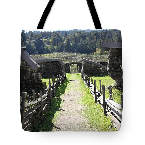 Jack London Ranch Winery Ruins 5d22180 Tote Bag by Wingsdomain Art and Photography