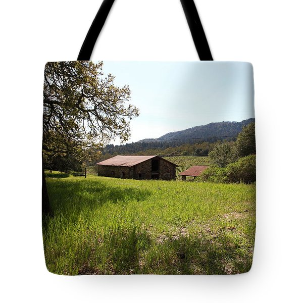 Jack London Stallion Barn 5D22056 Tote Bag by Wingsdomain Art and Photography