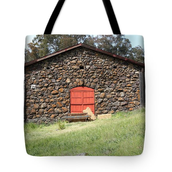 Jack London Stallion Barn 5D22101 Tote Bag by Wingsdomain Art and Photography