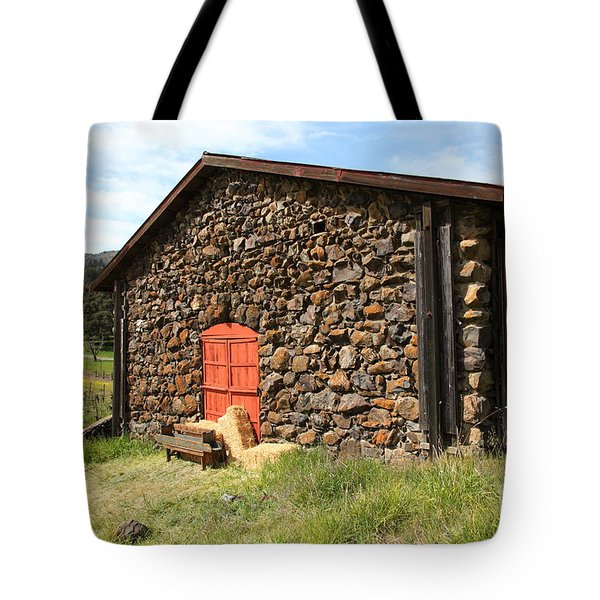 Jack London Stallion Barn 5D22104 Tote Bag by Wingsdomain Art and Photography