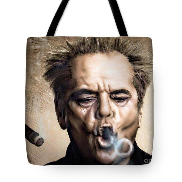 Jack Nicholson Tote Bag by Andrzej Szczerski