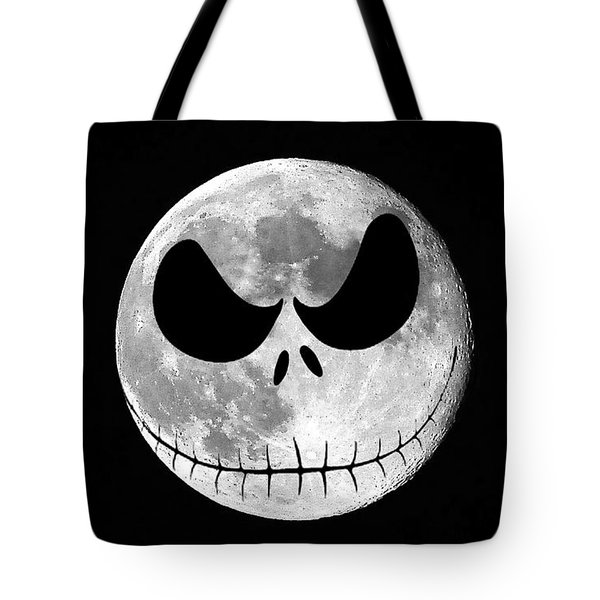 Jack Skellington Moon Tote Bag by Al Powell Photography USA