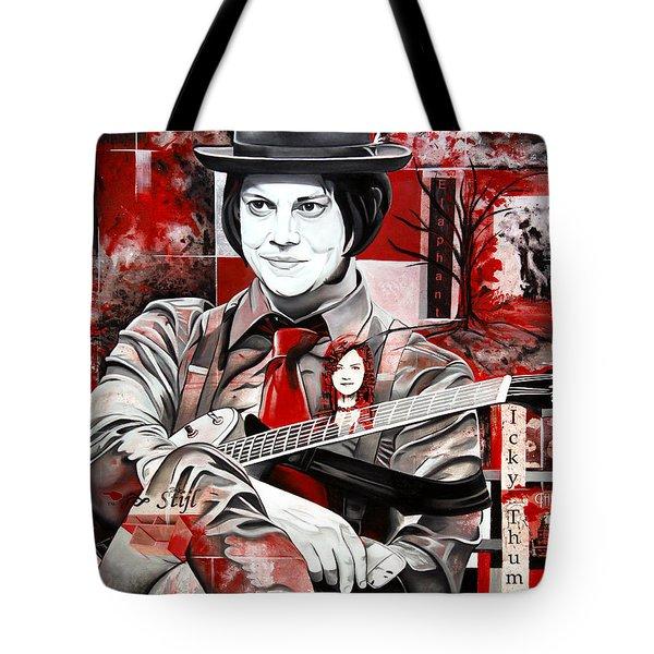 Jack White Tote Bag by Joshua Morton
