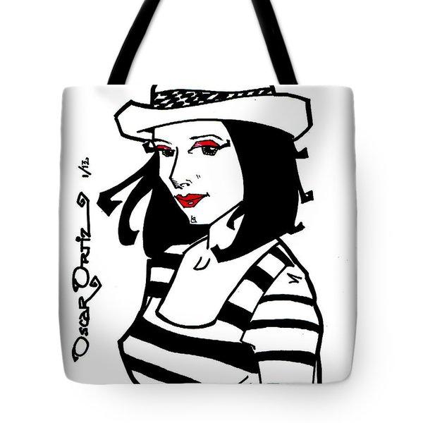 Jackie Tote Bag by Oscar Ortiz