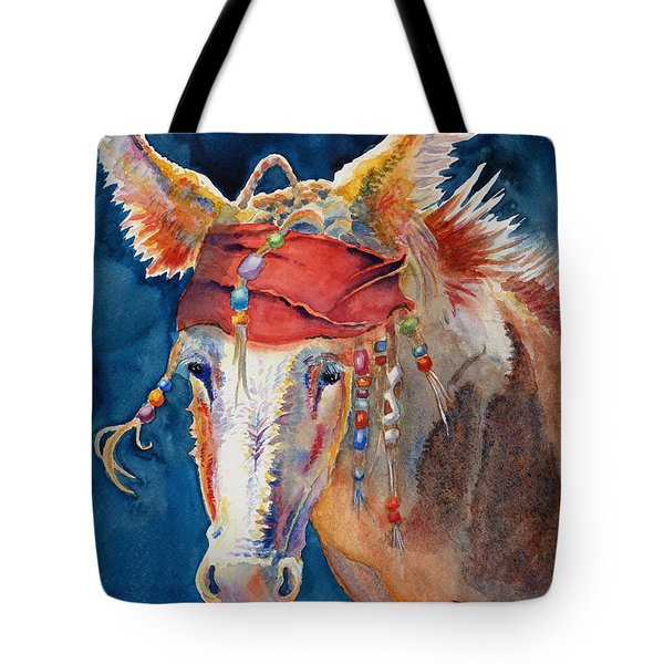 Jack Burro -  Donkey Tote Bag by Deb  Harclerode