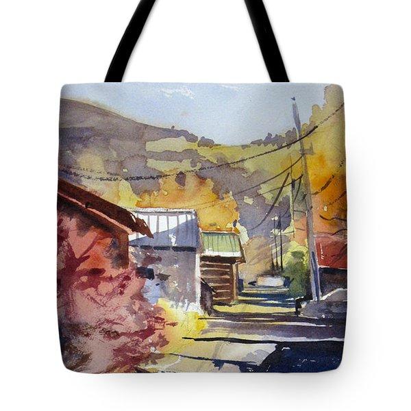 Jackson Alley Tote Bag by Kris Parins