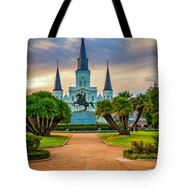 Jackson Square Cathedral Tote Bag by Steve Harrington