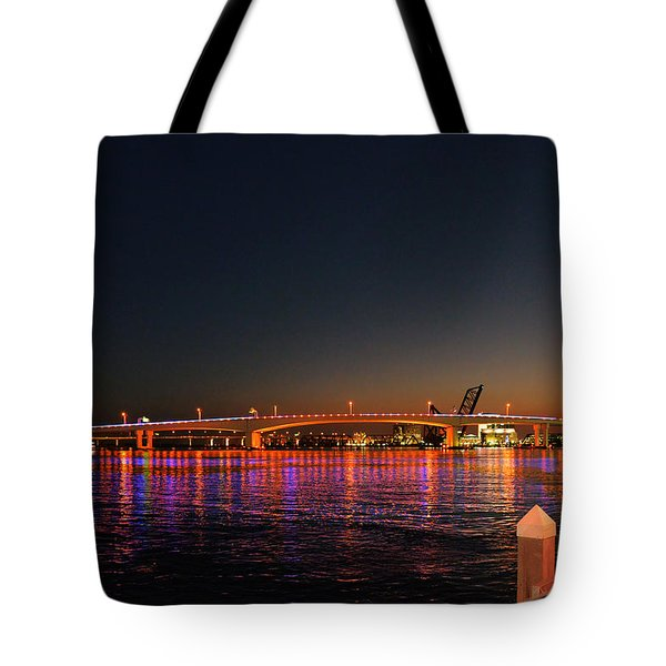 Jacksonville Acosta Bridge Tote Bag by Christine Till