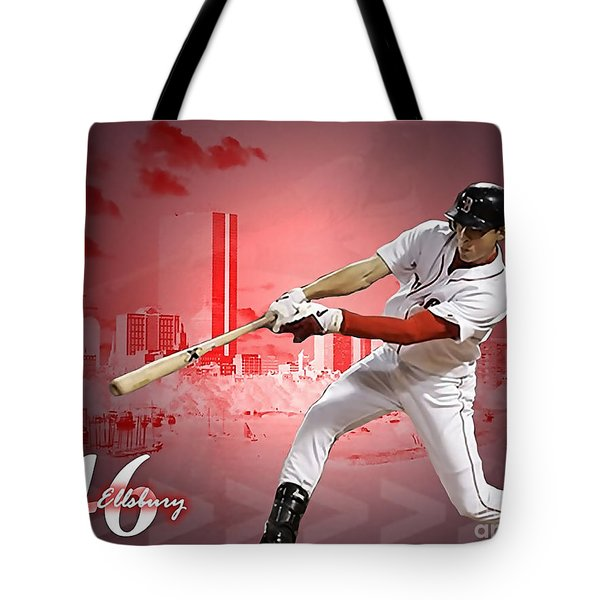 Jacoby Ellsbury Tote Bag by Marvin Blaine