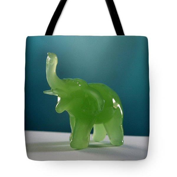 jade elephant Tote Bag by Tom Druin