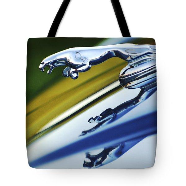 Jaguar Car Hood Ornament Tote Bag by Jill Reger