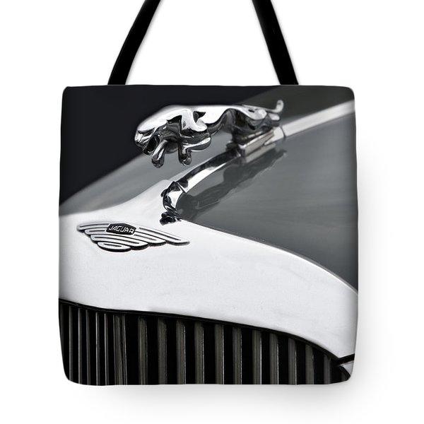 Jaguar Mk Ix Hood Tote Bag by Susan Candelario