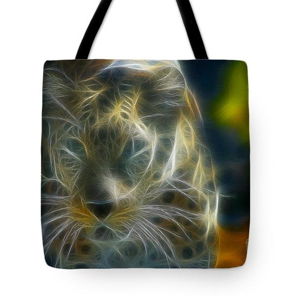 Jaguar208-fractal Tote Bag by Gary Gingrich Galleries