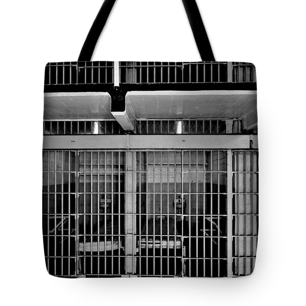 Jail Cells Tote Bag by Benjamin Yeager