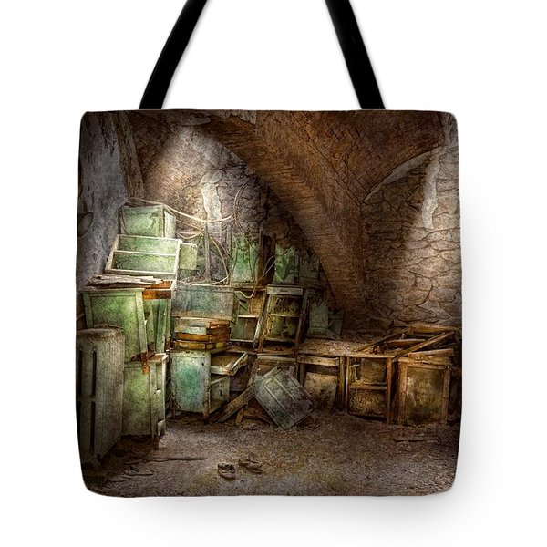 Jail - Eastern State Penitentiary - Cabinet members  Tote Bag by Mike Savad