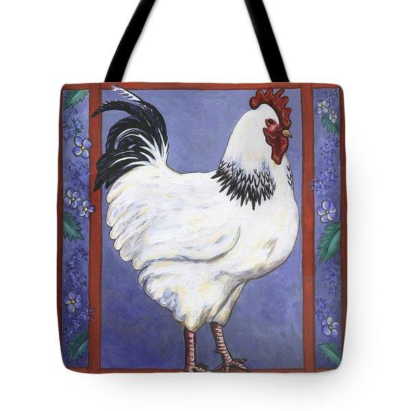 Jake The Rooster Tote Bag by Linda Mears