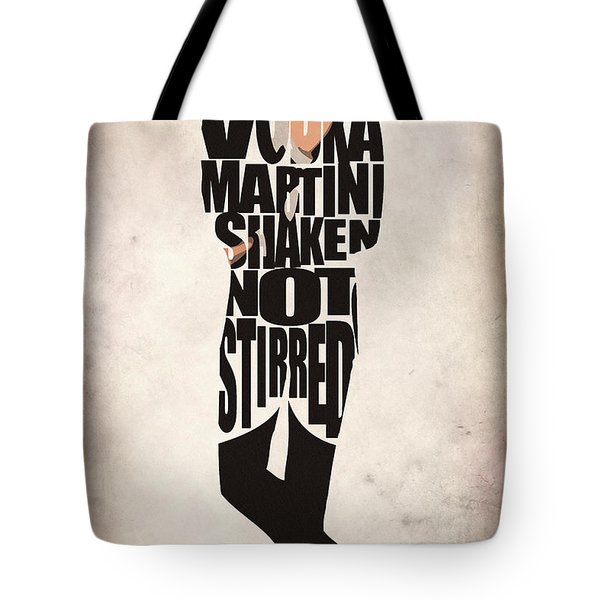 James Bond Tote Bag by Ayse Deniz